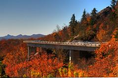 Linn Cove Viaduct (Steve Lindenman) Tags: bridge autumn us fallcolors northcarolina blueridgeparkway linncoveviaduct lindenman