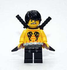 Double Dragon Double Take (JasBrick) Tags: lego minifig custom doubledragon nunchaku