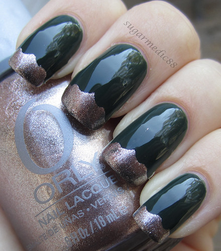 Orly Enchanted Forest with Orly Rage tips