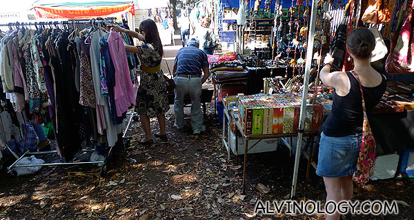 The rustling sounds of the dry leaves beneath your feet makes shopping more interesting