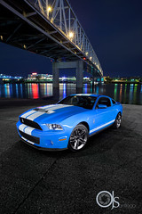 COBRA Commander  -  2010 Shelby GT500 (ojsantiago21) Tags: light ohio river painting photography nikon downtown cobra cincinnati automotive shelby mustang supercharger strobe 2010 gt500 d700 54l brembos ojsantiago