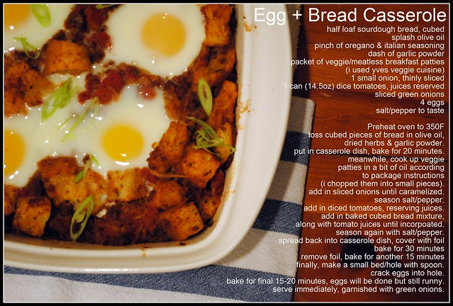 Egg + Bread Casserole