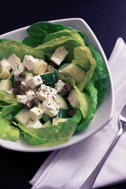 Feta, Cucumber and Capers