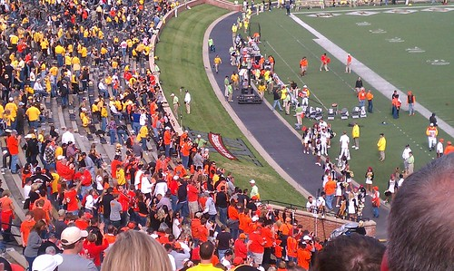 Oklahoma State fans at 2:30 p.m.