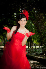_DSC0131 (boonkeat) Tags: wedding red portrait people woman white flower love halloween girl beautiful beauty smile face fashion female dark hair happy person death bride twilight glamour eyes pretty veil dress adult witch expression gorgeous fear hell young evil posing happiness clothes fantasy attractive horror demon devil nightmare bouquet gown cheerful bridal caucasian