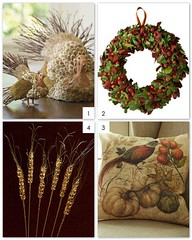 Thanksgiving Decor 2011 (Design Wotcha! http://designwotcha.com/) Tags: turkey handmade handcrafted murano holidaydecorations thanksgivingdecorations thanksgivingcrafts thanksgivingwreath wheatstems thanksgivingpillow thanksgivingcentrepieces