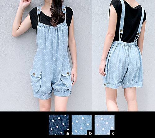 20_Cotton Denim Polka Short Jumper