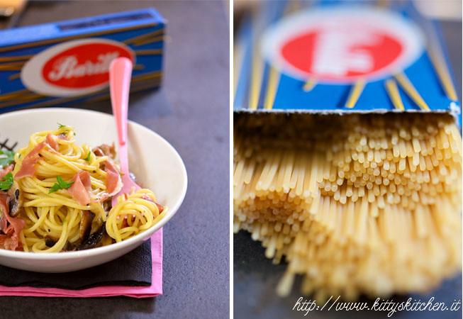 spaghetti funghi e prosciutto2