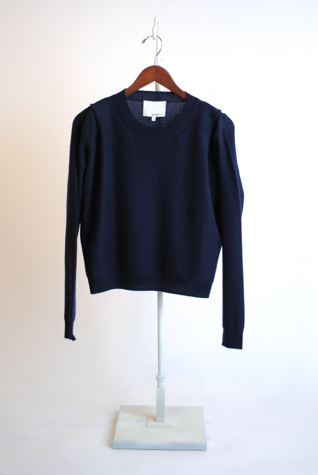 Boxy Pullover with Shoulder Pleats