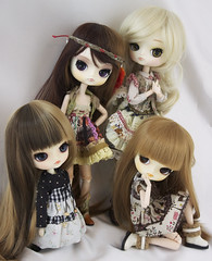 Four little cuties (Valrie Busymum) Tags: doll dal groove pullip tweety sooni dotori lizbel