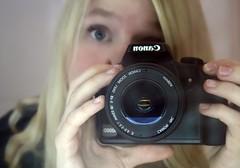 eye to eye. (Eva Merry) Tags: camera portrait eye me self project mirror eva days 365 merry evaaphotography evagruber evamerry