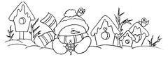 Boneco de neve e casinhas (Acrilex) Tags: natal artesanato artes riscos acrilex