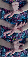 best two out of three [345:365] (rachelstander) Tags: selfportrait self hands diptych triptych fingers rockpaperscissors 365 gesture gestures selfie odc nikon50mmf18d ourdailychallenge snapseed