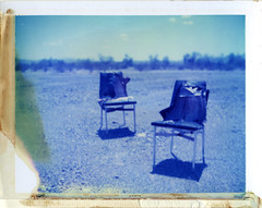 Vidal, CA (moominsean) Tags: california summer polaroid desert chairs nothing dust vidal 190 type108 expired012000