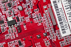 Surface mounted tech (Craig Wilson Photography) Tags: red macro up canon lens eos technology close board tube australia surface mount electronics western wa extension pcb circuit printed manufacture rockingham 250mm 450d