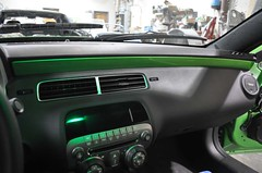 "2011 Synergy Green Camaro 5th Gen custom door panel install • <a style=""font-size:0.8em;"" href=""http://www.flickr.com/photos/85572005@N00/6303468472/"" target=""_blank"">View on Flickr</a>"