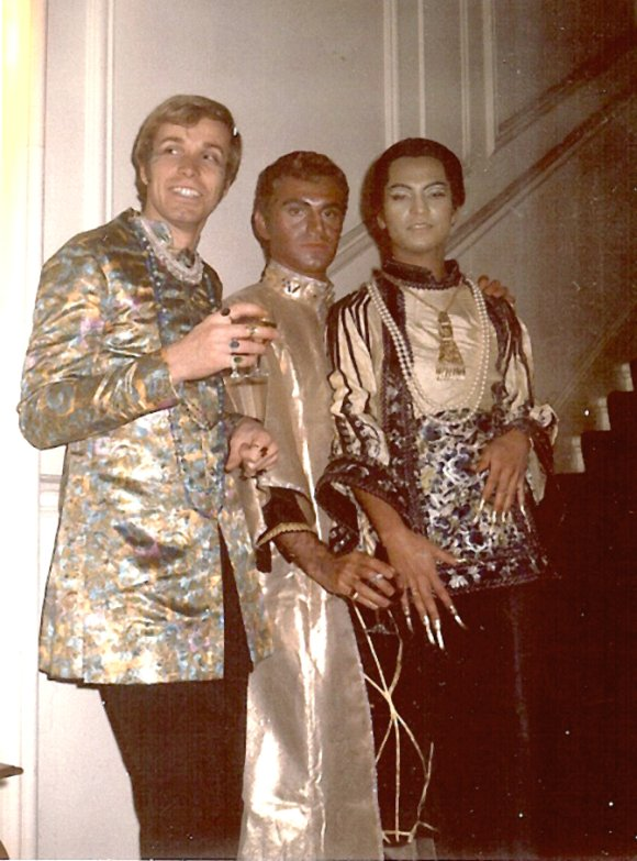 Michael Ho-chong (right) with friends at a party in London in the late 60s