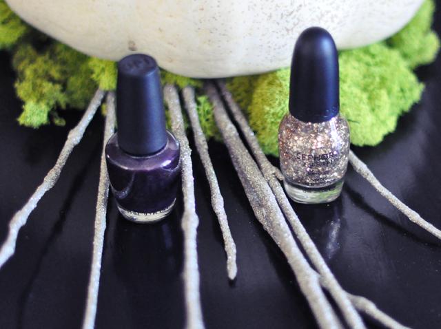 OPI nail polish+ sephora gold flake+nails+manicure