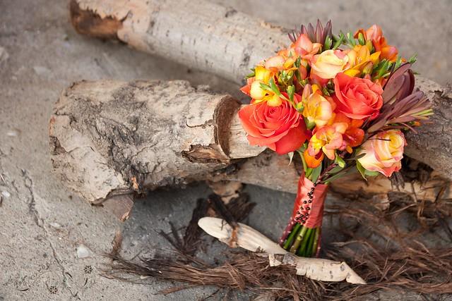 Autumn bridal bouquet - buchet mireasa de toamna