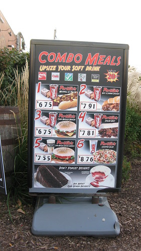 The drive thru menu order board at Portillo's Hot Dogs.  Summit Illinois USA.  October 2011. by Eddie from Chicago