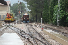 Bunyola Station (Concorps) Tags: old railroad travel vacation mountain architecture buildings landscapes spain scenery track sony transport scenic eisenbahn rail railway trains historic spanish  bahn mallorca palma  spoor spoorwegen soller      serradetramuntana      bunyola  ferrocarrildesller   dscw220