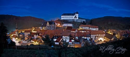 Stolberg im Harz bei Vollmond