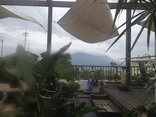 桜島が見える