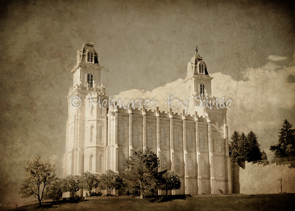 Manti Vintage LDS Temple Prints -