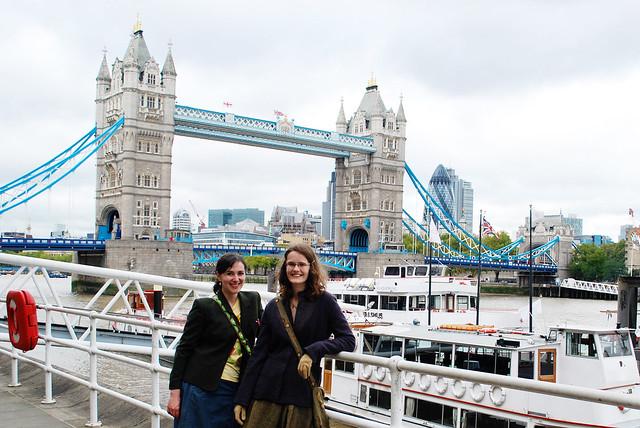 Mollie & Katie at Tower Bridge