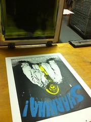 SHARKULA! 'Diarrhea Of A Mad Man' (billy craven) Tags: chicago poster screenprint rap sharkula thig