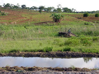 Maleme bridge in Matiti Association, Maleme village, Macanga District, Mozambique. Photo by Peter Fredenburg, 2008