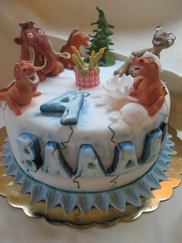 Ice Age 3 cake