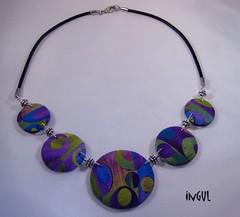 bunte Blasen (Ingul-design) Tags: necklace handmade unique polymerclay fimo kato premo ketten handarbeit unikate ingul