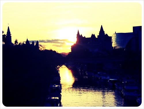 ottawa rideau canal sunset