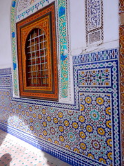TIle work (sbtravels) Tags: door old window colorful pretty traditional creative tiles caligraphy tessellations moroccan tilework arabesc complexstarpolygons linearrepeatpatterns