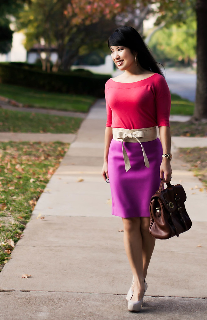 the limited coral shirt, j.crew double serge pencil skirt bright dalia, marco santi dash nude pumps, michael kors rose gold small runway watch mk5430, the limited gold glitter fabric obi belt, tjmaxx vieta lucille buckle satchel, color brigade