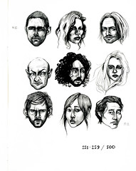 251-259/500 (fake glue) Tags: moleskine person drawings liner isograph iseeidraw 500faces