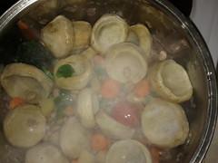 Artichokes with beans pearls - Αγκινάρες με φασόλια χάντρες