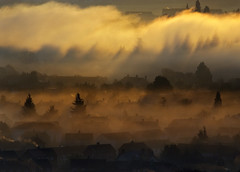 awakening (Dove*) Tags: morning trees houses fog scotland getty inverness theviewfrommywindow