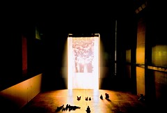 Film Club (fotobes) Tags: light people london film scale 35mm lomo lca xpro lomography crossprocessed sitting candid watching grain tatemodern turbinehall shade analogue lying tacitadean lomochrome fotobes
