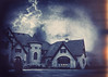 White Lightning (SOMETHiNG MONUMENTAL) Tags: white house storm castle canon dark mansion lightning g11 somethingmonumental mandycrandell