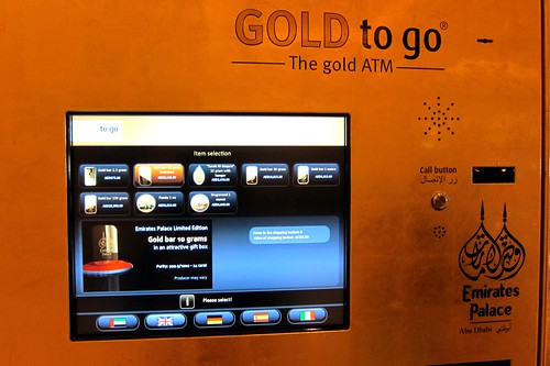 Gold ATM in Emirates Palace