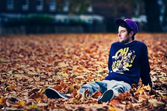 Alex For AnyForty (Rick Nunn) Tags: street portrait london hat leaves beard leaf photojournalism rick any crew brand nunn forty canonef135mmf2l strobist anyforty