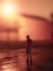 stormy night 365 Days (Year 6) #018 11/18 (randeclip) Tags: road street portrait me wet water rain weather wall sepia club night self dark stand blurry alone walk group daily days rainy solo 365 damp