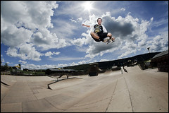 Kyle Frederick | Tuck Knee (Alex Papke) Tags: camp sports clouds dc am big nikon skateboarding skating fisheye skate woodward transfer 8mm zero bower omit chriscole week12 dgk papke freshtildeath outdoorstreet kylefrederick