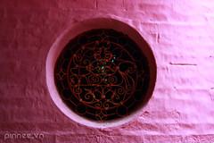 Cha Ngc Hong (pinnee.) Tags: window horizontal wall closeup circle outdoors temple photography pagoda asia southeastasia day buddhism nopeople vietnam saigon hochiminhcity gettyimages southvietnam traveldestinations colorimage vietnameseculture pinkcolor consumerproduct asiaimages testlens southeastasiaimages emperorjadepagoda tokina1116mmf28 changchong chaphchi pinneecom pagodainsaigon pagodainvietnam theemperorjadepagoda