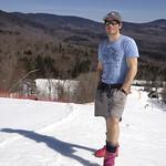 Brandon Dyksterhouse, Men's BC Ski Team Head Coach - it was warm in the east!