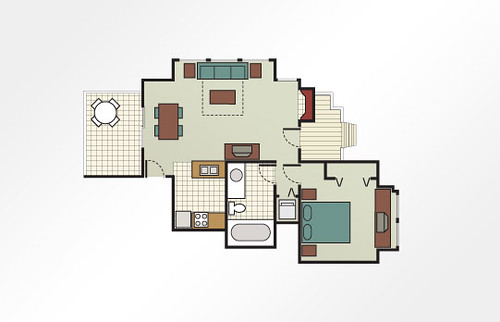 MountainLoft™ 1-Bedroom Townhome - 500 sq ft