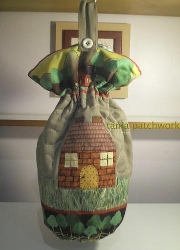 Puxa Saco Casinha by tania patchwork