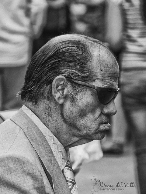 Retrato callejero en el Rastro de Madrid